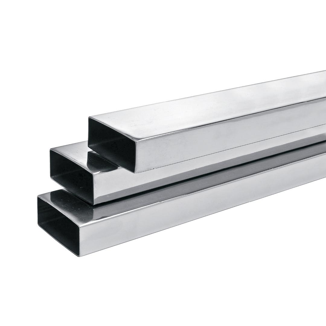 tubos de aço inox retangulares